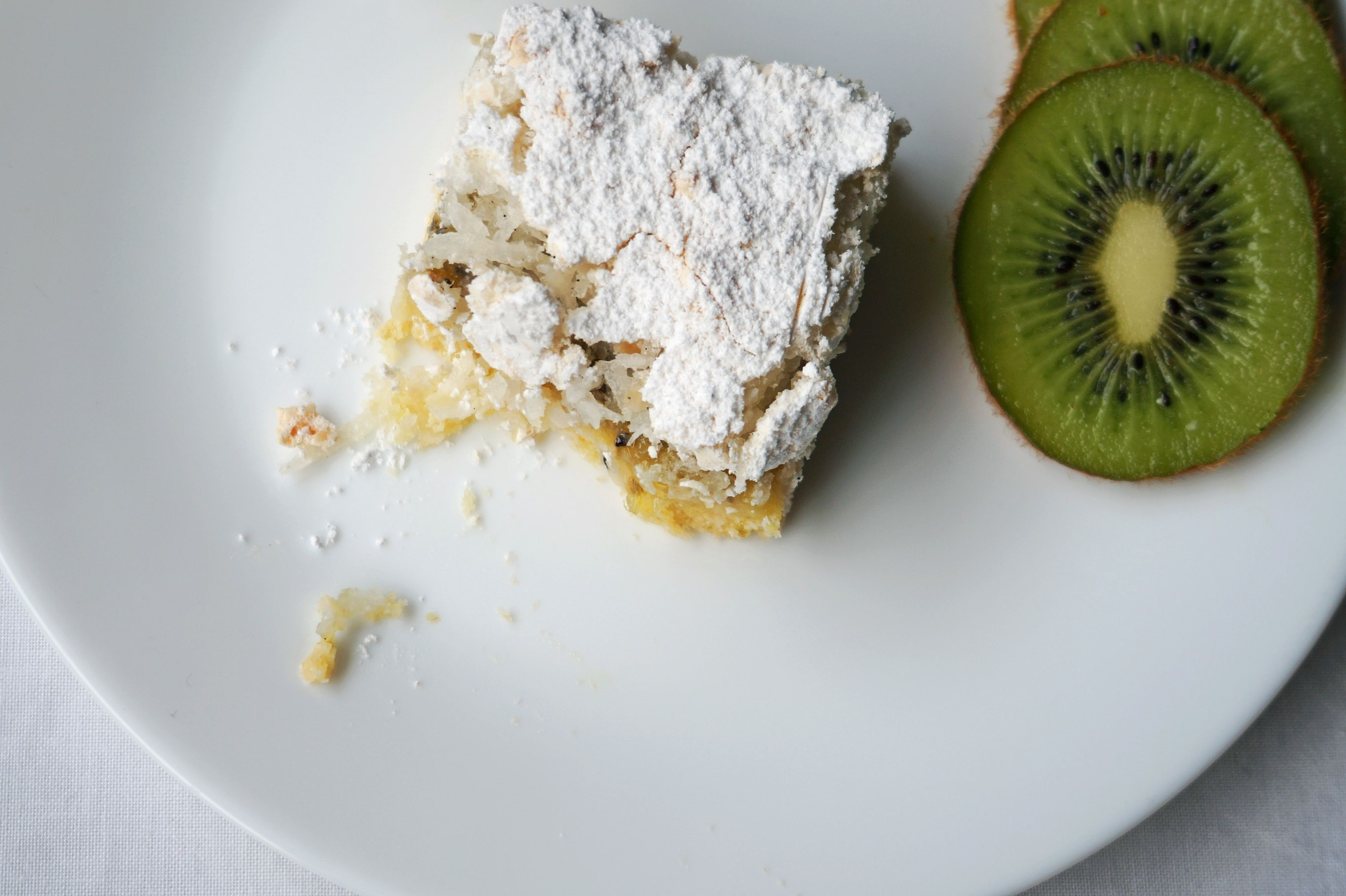 Kiwifruit, Lime and Coconut Slice {gf}