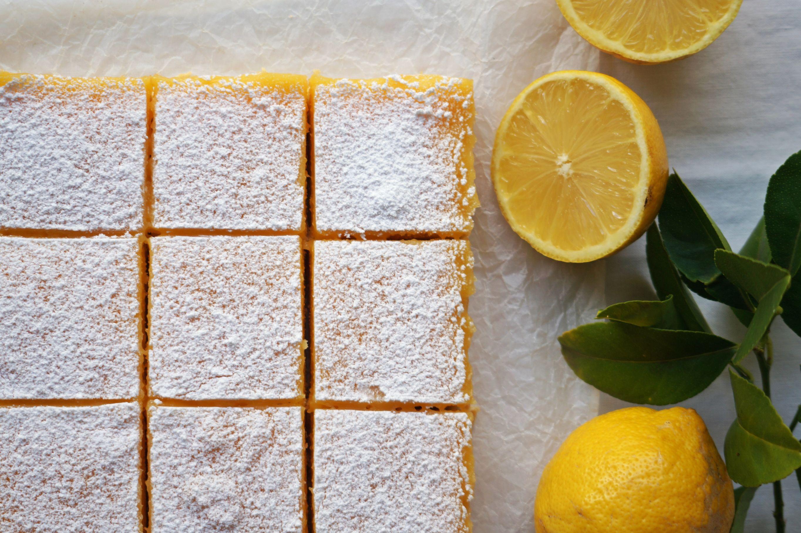 Lemon Curd Slice {gluten-free}