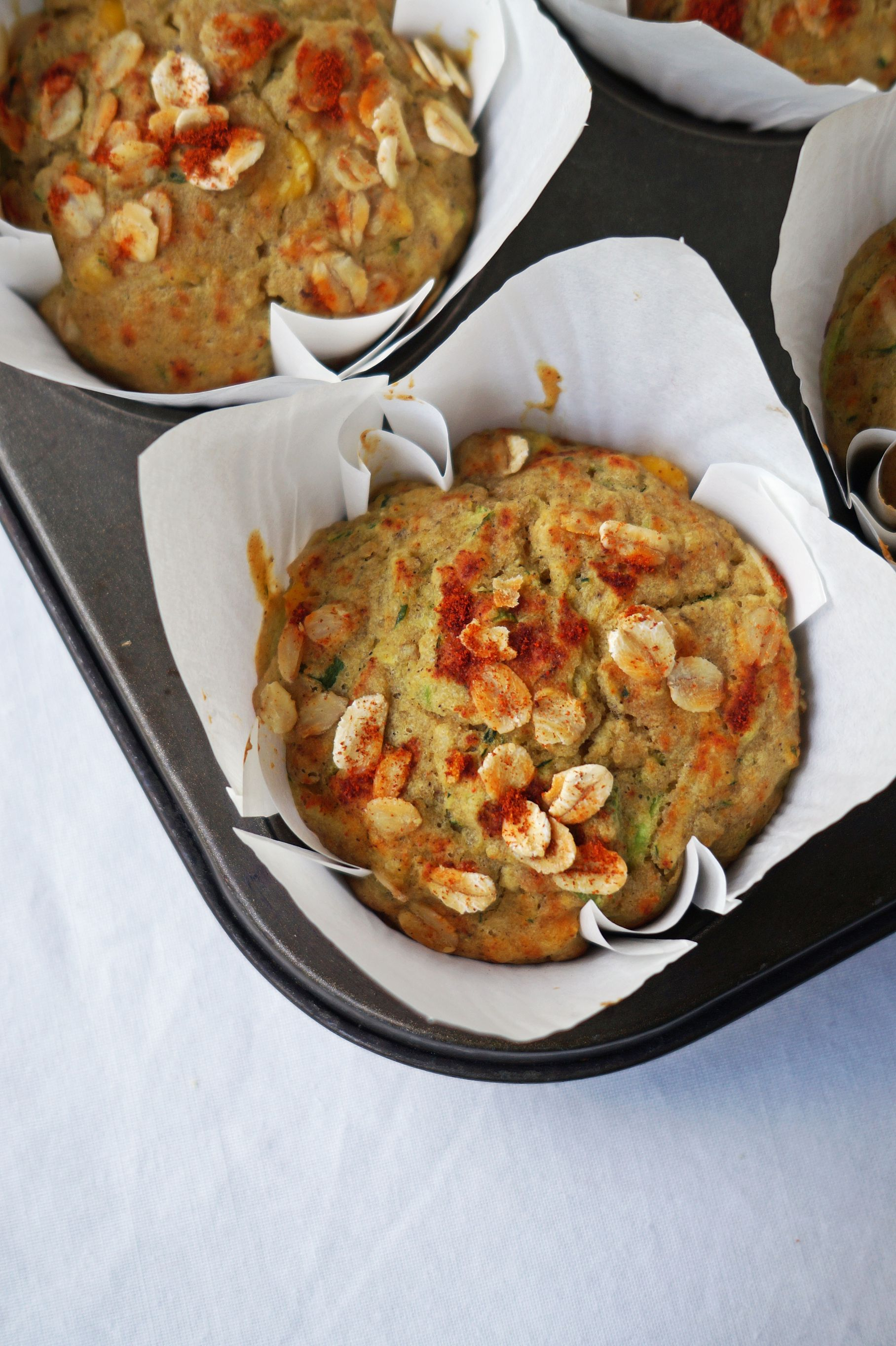 Corn and Zucchini Muffins {vegan, gf}