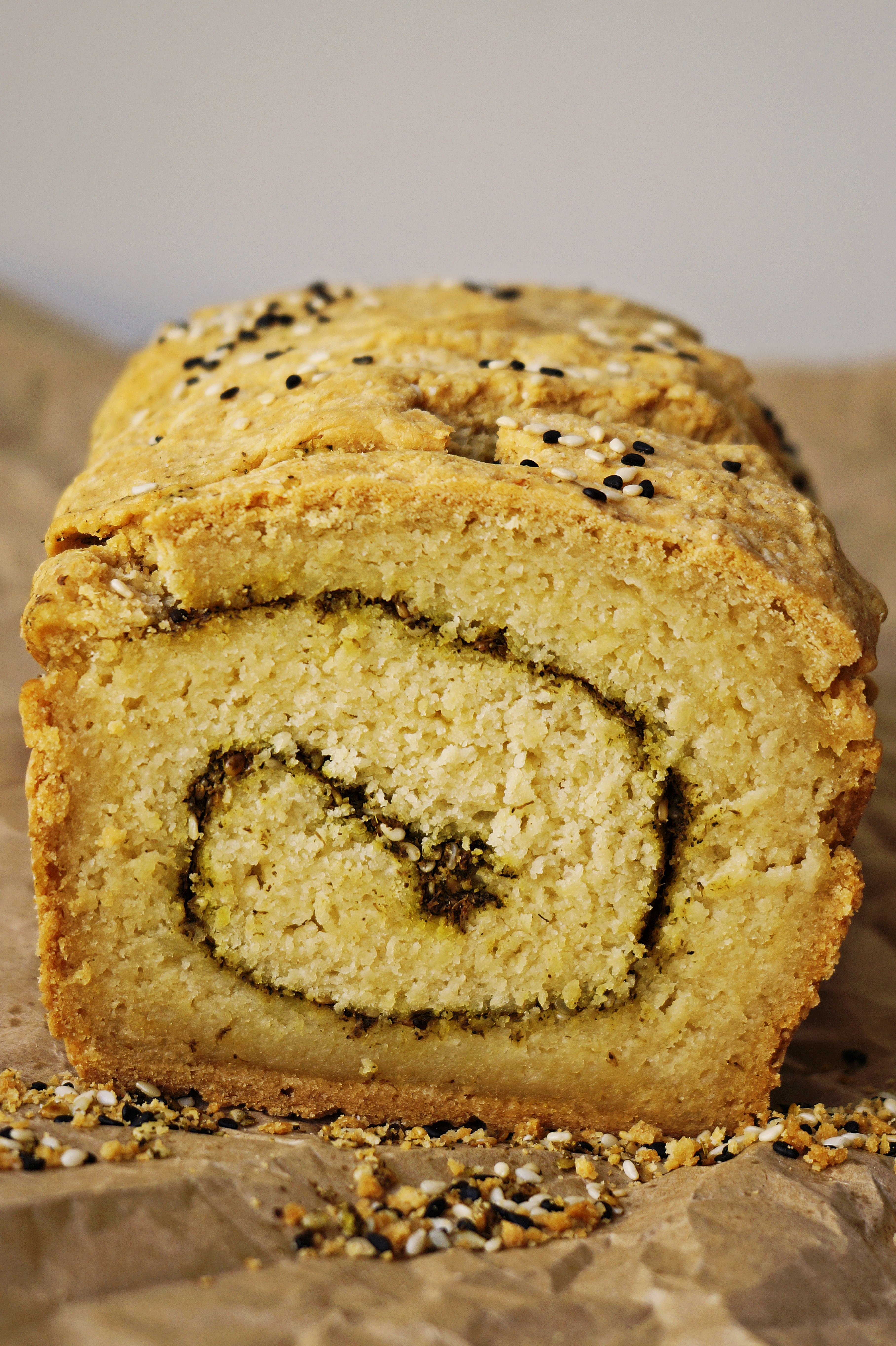 Garlic Za'atar Irish Soda Bread {vegan, GF}